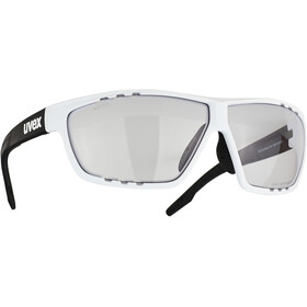 UVEX Sportstyle 706 V Glasses, white/black mat/smoke